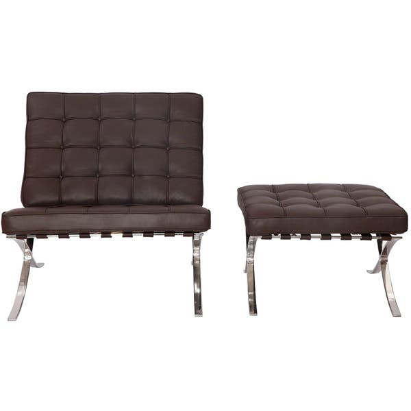 Admirable Shop Mlf Pavilion Chair And Ottoman Dark Brown Free Gmtry Best Dining Table And Chair Ideas Images Gmtryco