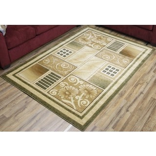 Empire Super Belkis Transitional Green/Beige Rug (3'11 x 5'3)