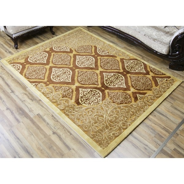 Empire Shonil Beige Polypropylene Transitional Rug - 2'7 x 7'7