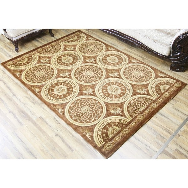 Empire Shonil Transitional Brown/Beige Polypropylene Rug (2'7 x 7'7)