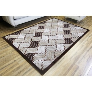 Empire Crystal Transitional Brown/Beige Rug (7'10 x 10'2)