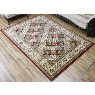 Empire Super Belkis Multicolored Polypropylene Traditional Rug (7'10 x 10'2)