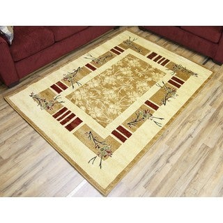 Empire Passion Gold/Beige Transitional Rug (7'10 x 10'2)