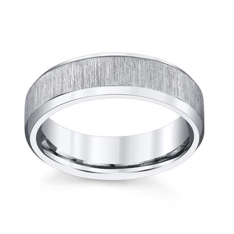 Men's Silver Titanium Wedding Band