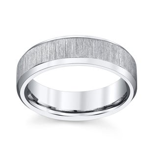 Men's Silver Titanium Wedding Band