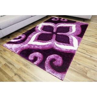 Empire Gloria Purple/Pink Shag Rug (2'7 x 7'7)