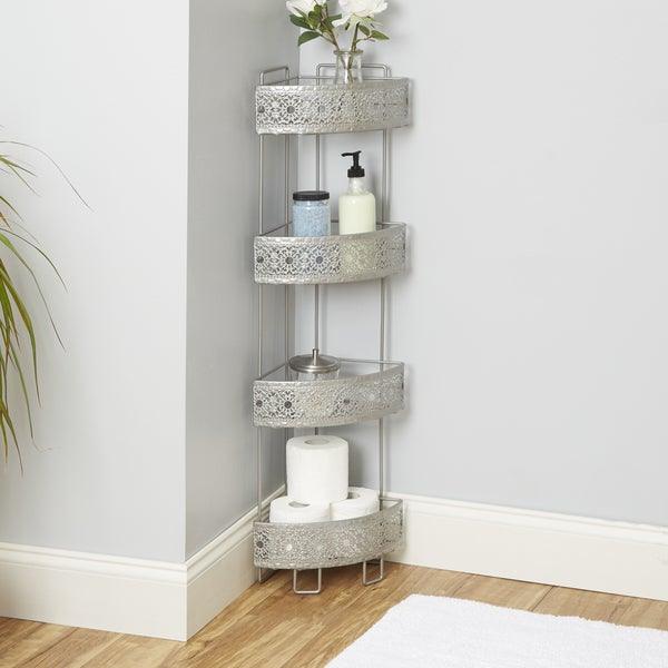 Filigree Bathroom Collection Corner Caddy - Free Shipping On Orders ...