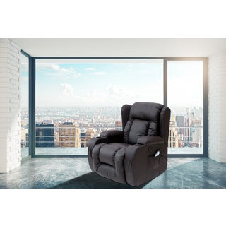 Brenda Faux Leather Modern Style Heated Vibrating Massage Recliner