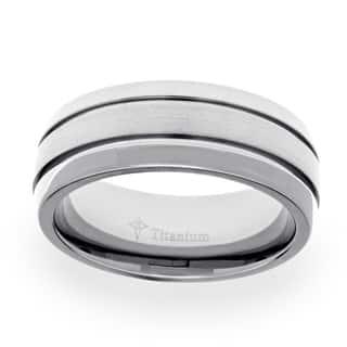 Men's Titanium Satin and High Polished Wedding Band (8 mm) https://ak1.ostkcdn.com/images/products/13828938/P20474217.jpg?impolicy=medium