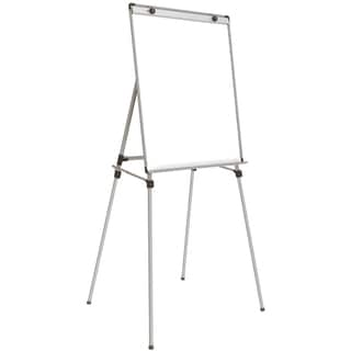Ghent White Aluminum 36-inch x 28-inch 4-leg Easel and Magnetic Whiteboard
