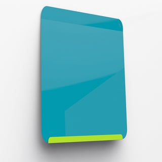 Ghent Lime Green and Bright Blue Powder-coated 24.375-inch x 18-inch Link Premium Magnetic Markerboard
