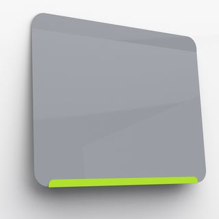 Ghent's LINK Grey/Green Metal Powder-Coated Magnetic Markerboard