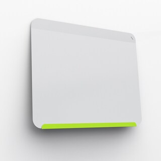 Ghent Lime Green and White Powder-coateed 24.375-inch x 30-inch Link Premium Magnetic Markerboard