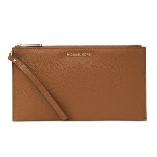Michael Kors Mercer Pebble Large Luggage Zip Clutch