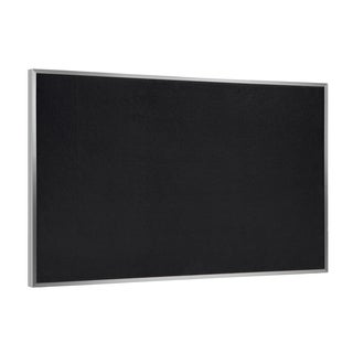 "Aluminum Frame Recycled 36"" x 46.5"" Rubber Bulletin Board - Black"