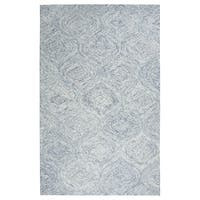 Rizzy Home Brindleton Blue Wool Hand-tufted Rug (5' x 8')