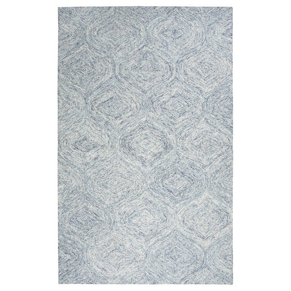 Rizzy Home Brindleton Blue Wool Hand-tufted Rug (5' x 8')