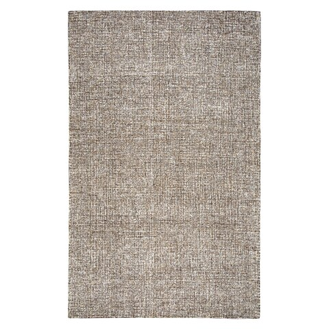 Hand-Tufted London Brown Wool Rug (5' x 8') - 5' x 8'