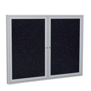 "Ghent Rubber/Aluminum 48"" x 60"" Enclosed Bulletin Board"