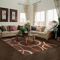 Superior Modern Meridian Brown Area Rug - 8' x 10'