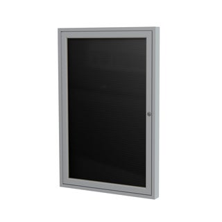 Ghent Aluminum and Black Flannel Enclosed Letterboard