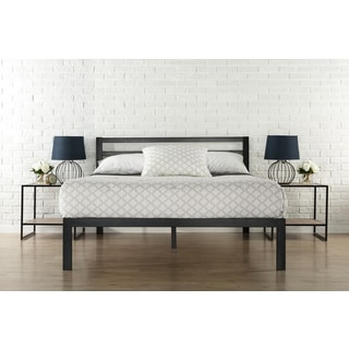 priage 3000h twin size platform bed frame with headboard