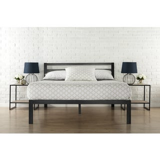 Priage 3000H King-Size Platform Bed Frame with Headboard