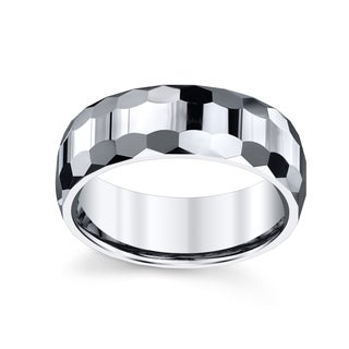 Men's Tungsten Carbide 8-millimeter High-polished Spartan Ring