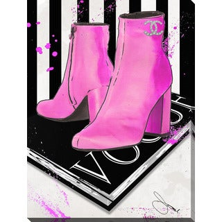 """BY Jodi """"These Boots By Coco"""" Giclee Print Canvas Wall Art"""