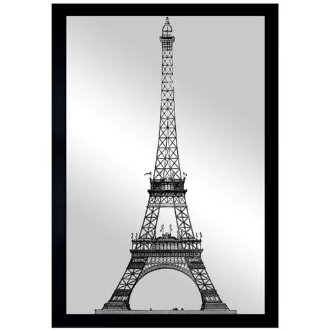 Oliver Gal 'Moin Eiffel Gold' Mirror Art - Gold