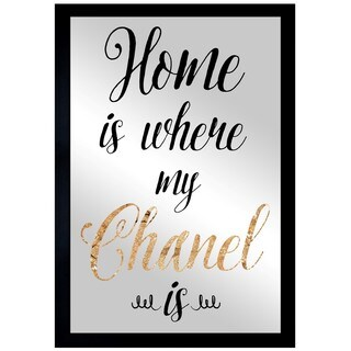 Oliver Gal 'Chanel Is My Home' Mirror Art - GOLD