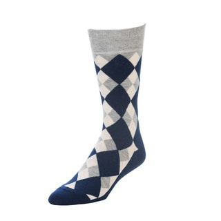 STROLLEGANT Aristocrat Men's Blue Size 10 - 13 One Pair of Cotton Crew Socks