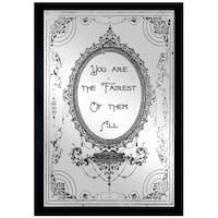 Oliver Gal 'The Fairest' Mirror Art - Black
