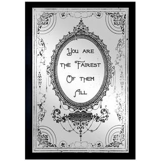 Oliver Gal 'The Fairest' Mirror Art - Black