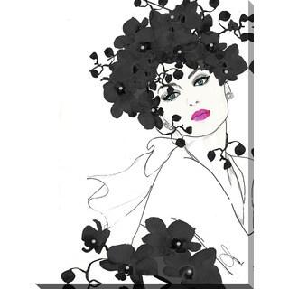 """BY Jodi """"In Bloom In Blak"""" Giclee Print Canvas Wall Art"""