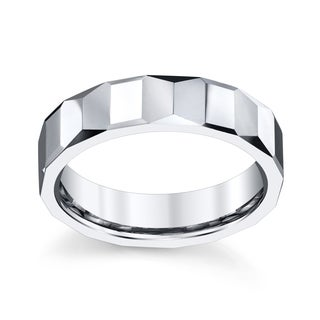 Men's High Polished Tungsten Carbide 8-millimeter Band