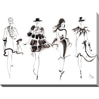 "BY Jodi ""Runway Reverse"" Giclee Print Canvas Wall Art"