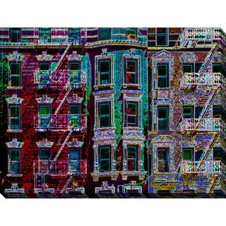"BY Jodi ""Nyc Walk Up"" Giclee Print Canvas Wall Art"