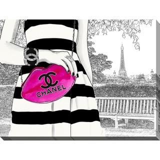 "BY Jodi ""Lets Meet In Paris 2"" Giclee Print Canvas Wall Art"