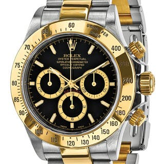 Certified Pre-owned Mens Rolex Daytona 18k Yellow Gold and Steel Chronograph Watch|https://ak1.ostkcdn.com/images/products/13829436/P20474640.jpg?impolicy=medium