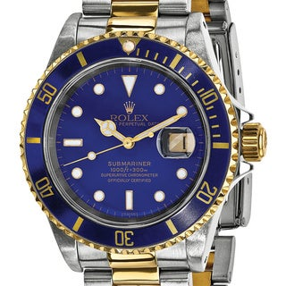 Certified Pre-Owned Rolex Men's Steel and 18 Karat Yellow Gold Submariner Blue Dial Watch https://ak1.ostkcdn.com/images/products/13829440/P20474643.jpg?_ostk_perf_=percv&impolicy=medium