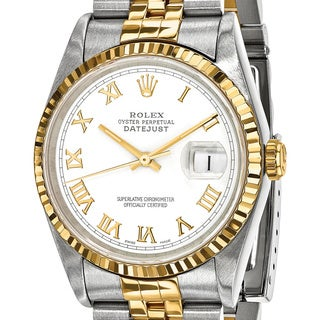 Certified Pre-Owned Rolex Men's Steel and 18k Yellow Gold White Dial Watch