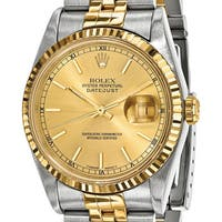 Quality Pre-owned Rolex Mens 18k Yellow Gold and Steel Champagne Dial Watch