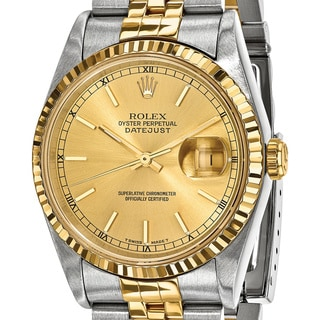 Link to Quality Pre-owned Rolex Mens 18k Yellow Gold and Steel Champagne Dial Watch Similar Items in Men's Watches