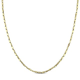 Miadora Signature Collection 10k Yellow Gold Grain Link Necklace