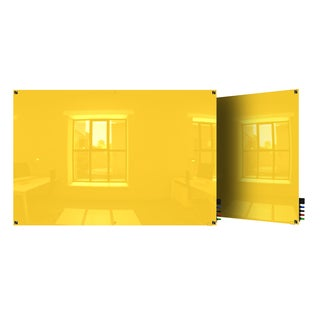 Ghent Yellow 4'x5' Harmony Glass Magnetic Whiteboard