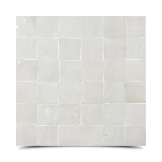 Zellig Ivory Solid Color Handmade Moroccan 12 x 12 inch Cement and Granite Floor or Wall Tile (Case of 12)