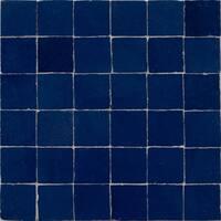 Moroccan Handmade Mosaic Tile(Zellig) Dark Blue, 12x12-in(Pack 6)