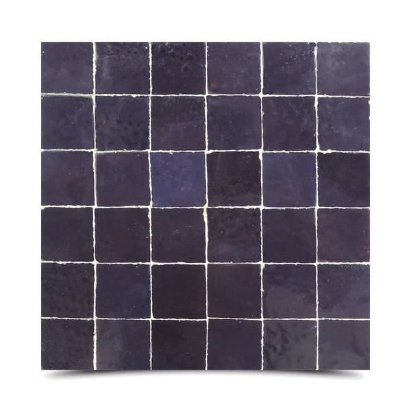 Handmade Solid Purple Mosaic Tile, Pack of 6 (Morocco). Opens flyout.
