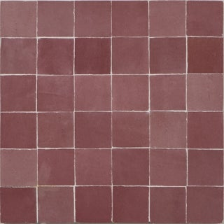 Zellig Pink Solid Color Handmade Moroccan 12 x 12 inch Cement and Granite Floor or Wall Tile (Case of 12)